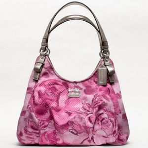 Coach *I trade*  Madison Op Art Pink & Silver